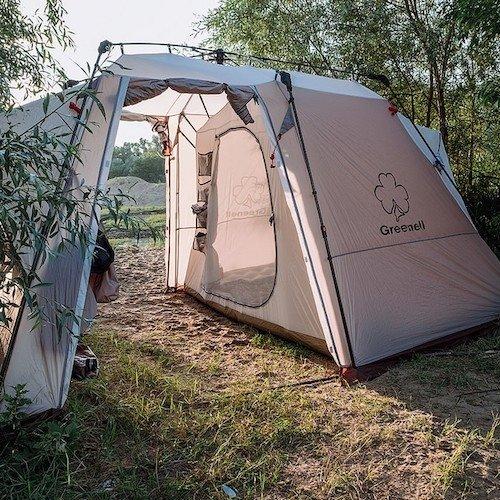 Туристические палатки Цвет Красный металлик