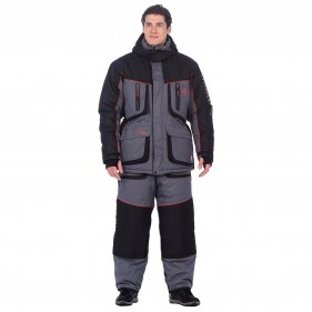 Изображение Костюм зимний Siberia LUX ткань Breathable (Серый/Черный)