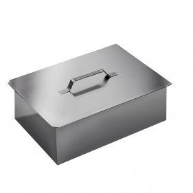 Изображение Коптильня двухъярусная с поддоном для сбора жира (380х280х170)( нержавеющая сталь 0,8 мм.) Технолит 6-01-0009 ()