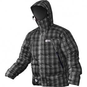 """Изображение Куртка """"Селенга N"""" пуховая (Черный/клетка, XS/42)"""