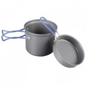 Изображение Tramp котелок с крышкой-сковородой из анодированного алюминия TRC-039