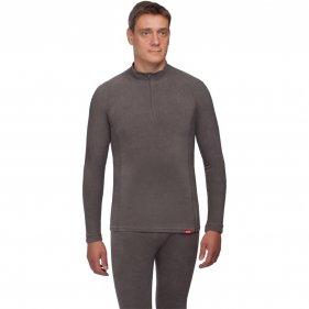 """Изображение Мужское тёплое термобельё """"Поларис"""" - рубашка (Темно-серый, L/52-54)"""