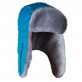Изображение Шапка ушанка зимняя Голубая Норка ткань Breathable (Бирюза)