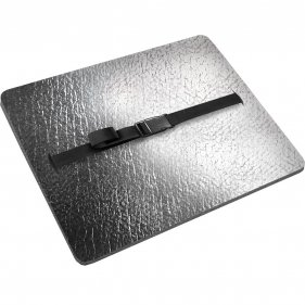 Изображение Сиденье туристическое Decor Металлик, с карабином 10 мм (Серый)