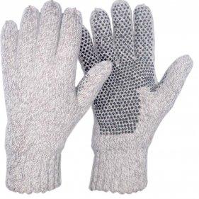 """Изображение Перчатки-варежки вязаные """"Badger"""" (меланж Oatmeal)"""