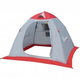 """Изображение Палатка для зимней рыбалки""""Нерпа 2 V2"""" (Серый/красный)"""