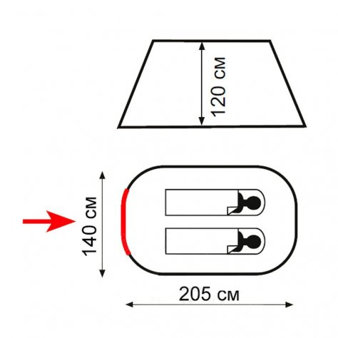 Totem Палатка самораскрывающаяся POP Up 2 V2
