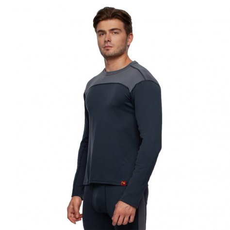 Bask мужская термокофта Slim Fit Pon U Sleeve (серый/тёмно-серый)