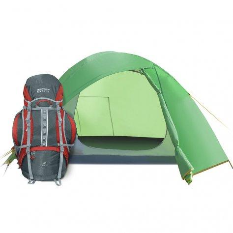 Палатка для путешествий трёхместная Эльф 3 V3