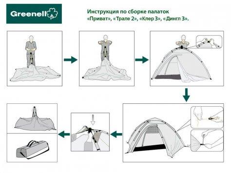"""Палатка автомат """"Дингл 3"""""""