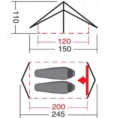 """Палатка """"Тайга 2"""" км N"""