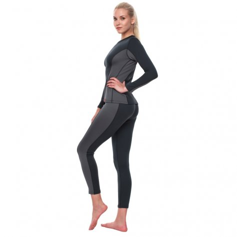 Bask женская термокофта Slim Fit Pon Lady Sleeve (серый/тёмно-серый)