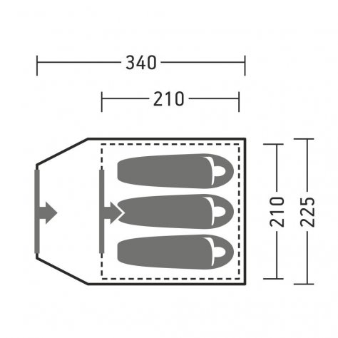 Палатка с внешним каркасом Керри 3 v3