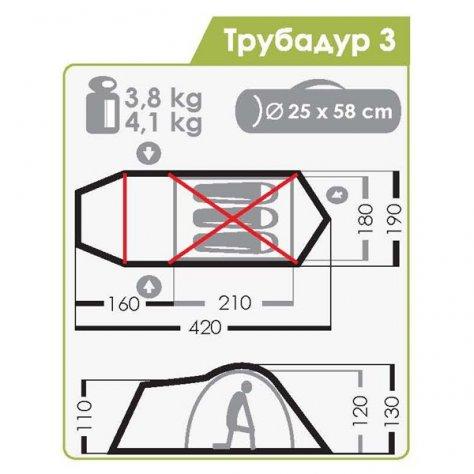 Normal Палатка Трубадур 3