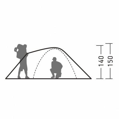 Кемпинговая четырёхместная палатка с большим тамбуром Каван 4