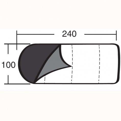 """Спальный мешок """"Одеяло с подголовником 450 XL"""""""