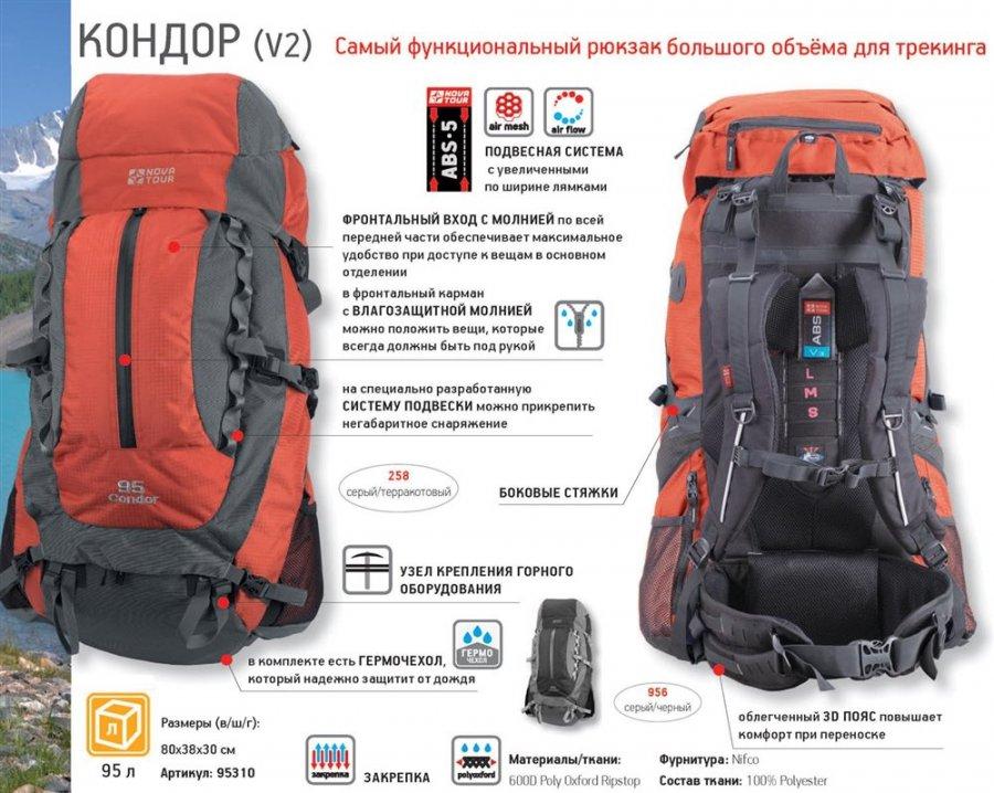 Рюкзак нова тур кондор 95 отзывы рюкзак школьный для девочки lycsac
