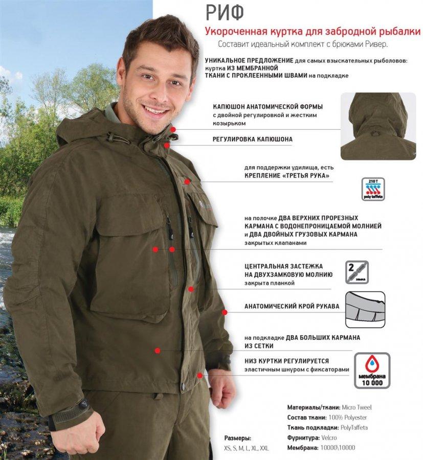 купить куртку для забродной рыбалки