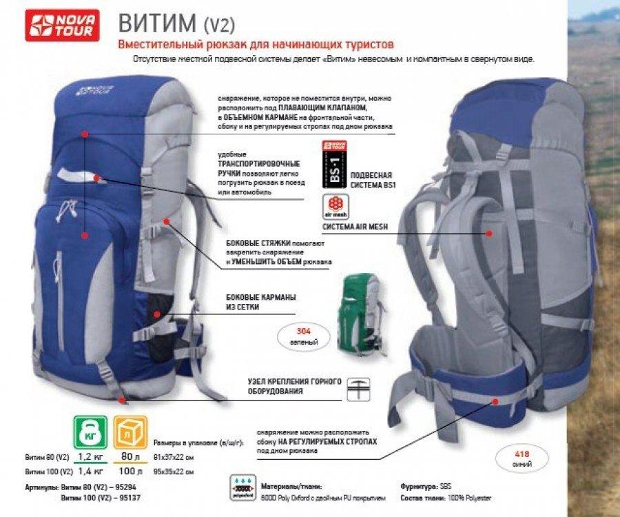 Рюкзак нова тур витим рюкзак campus vasey 18 сколь в длину